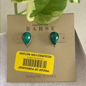 Gemstone earrings sterling silver  new from BARSE